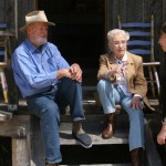 Ferlinghetti & Carolyn Cassady at Bixby Canyon