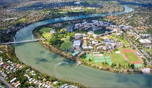 Brisbane River-Aerial-photo